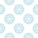 Modelo inconsútil floral azul claro y blanco Fotos de archivo libres de regalías