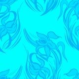 Modelo inconsútil floral azul de iris abstractos Foto de archivo