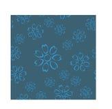 Modelo inconsútil floral azul sucio Fotografía de archivo