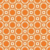 Modelo inconsútil floral brillante anaranjado Foto de archivo libre de regalías