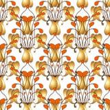 Modelo inconsútil floral colorido de Paisley de la elegancia Brillante prospere el ornamento exhausto del vector de la mano con l ilustración del vector