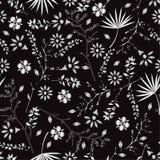 Modelo inconsútil floral colorido del bordado monótono con el libert stock de ilustración