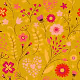 Modelo inconsútil floral colorido lindo Imagen de archivo