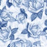 Modelo inconsútil floral con el ro hermoso Fotos de archivo libres de regalías