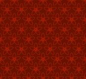 Modelo inconsútil floral con Jasmine Flowers Fondo del rojo del vector Fotos de archivo