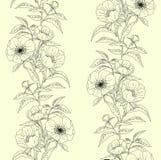 Modelo inconsútil floral con las peonías Fotografía de archivo
