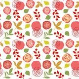 Modelo inconsútil floral con las rosas Imagen de archivo libre de regalías