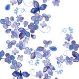 Modelo inconsútil floral de la acuarela Fotos de archivo libres de regalías