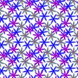 Modelo inconsútil floral de la acuarela linda Boho azul imágenes de archivo libres de regalías