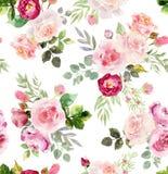 Modelo inconsútil floral de la acuarela libre illustration