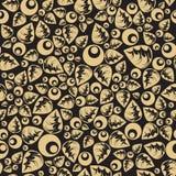 Modelo inconsútil floral de la elegancia de la hoja de oro Imagen de archivo libre de regalías