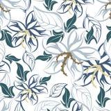 Modelo inconsútil floral de la flor Foto de archivo libre de regalías