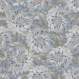 Modelo inconsútil floral de la luz 3d Flores superficiales Fotografía de archivo