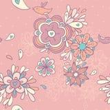 Modelo inconsútil floral de la vendimia Imagen de archivo