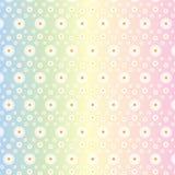 Modelo inconsútil floral de las margaritas blancas en fondo de los colores en colores pastel de Gradated ilustración del vector