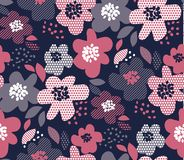 Modelo inconsútil floral de lujo Foto de archivo libre de regalías