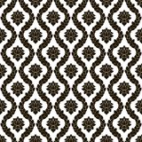Modelo inconsútil floral del damasco del vector Diseño monocromático blanco y negro Fotografía de archivo libre de regalías