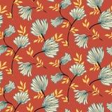 Modelo inconsútil floral del vector con las flores del vintage Fondo moderno elegante del verano ilustración del vector