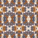 Modelo inconsútil floral del vintage de la geometría Foto de archivo libre de regalías
