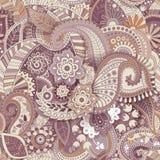Modelo inconsútil floral, efecto de la textura Ornamento colorido indio Flores y Paisley decorativas del vector Estilo étnico libre illustration