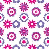 Modelo inconsútil floral Ejemplo del vector con las flores abstractas Imagen de archivo