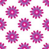 Modelo inconsútil floral Ejemplo del vector con las flores abstractas Fotografía de archivo