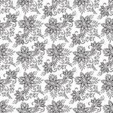 Modelo inconsútil floral El libro de colorear pagina el ejemplo del vector Fotografía de archivo libre de regalías