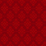 Modelo inconsútil floral en color rojo Foto de archivo