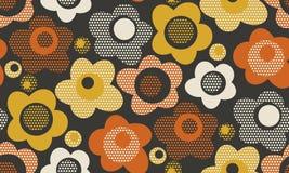 Modelo inconsútil floral estilizado del vintage creativo Imagen de archivo libre de regalías
