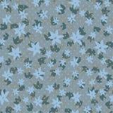 Modelo inconsútil floral estilizado del vintage Fondo a mano del cepillo de la tinta de las flores Imagenes de archivo