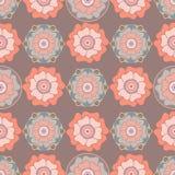 Modelo inconsútil floral estilizado en estilo oriental Imágenes de archivo libres de regalías