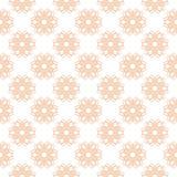 Modelo inconsútil floral Fondo anaranjado del papel pintado Fotografía de archivo libre de regalías