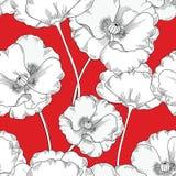 Modelo inconsútil floral Fondo de la amapola de la flor Ornamento floral de la teja libre illustration