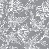 Modelo inconsútil floral Fondo de la peonía de la flor Ornamento floral de la teja libre illustration