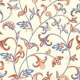 Modelo inconsútil floral Fondo del remolino de la flor Ornamento árabe con las flores y las hojas fantásticas Imágenes de archivo libres de regalías
