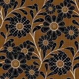 Modelo inconsútil floral, fondo marrón de las flores Fotos de archivo libres de regalías