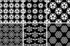 Modelo inconsútil floral Fondos abstractos blancos y negros Imagen de archivo libre de regalías