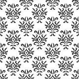 Modelo inconsútil floral geométrico del damasco del ornamento blanco y negro del ikat, vector stock de ilustración