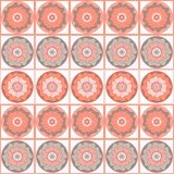 Modelo inconsútil floral geométrico en colores en colores pastel Fotografía de archivo libre de regalías