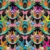 Modelo inconsútil floral hermoso colorido de Paisley Ornam del vector Imagenes de archivo