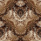 Modelo inconsútil floral moderno 3d Geométrico abstracto Fotos de archivo