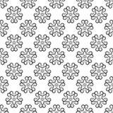 Modelo inconsútil floral negro en el fondo blanco Foto de archivo
