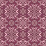 Modelo inconsútil floral rojo púrpura Fondo con los elementos del diseño floral Foto de archivo