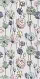 Modelo inconsútil Flores realistas wallpaper Stock de ilustración