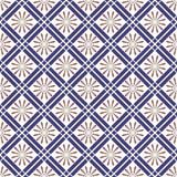 Modelo inconsútil Fondo abstracto de la red textura con estilo moderna Repetición del ornamento elegante con las tejas del Rhombu Fotografía de archivo