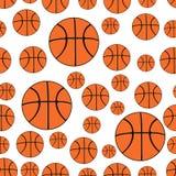 Modelo inconsútil Fondo inconsútil con las bolas del baloncesto Fotos de archivo