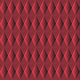 Modelo inconsútil Fondo rojo con el Rhombus y Roces fotografía de archivo libre de regalías