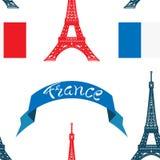 Modelo inconsútil Francia libre illustration