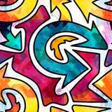 Modelo inconsútil geométrico abstracto brillante en estilo de la pintada ejemplo del vector de la calidad para su diseño Imagenes de archivo