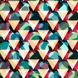 Modelo inconsútil geométrico abstracto brillante en estilo de la pintada ejemplo del vector de la calidad para su diseño Imagen de archivo